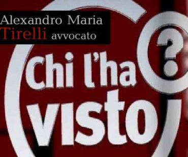 L'avvocato Alexandro Maria Tirelli a Chi l'ha visto