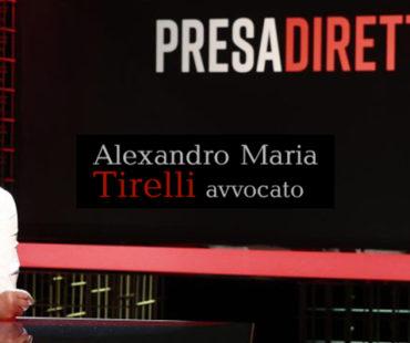 Assicurazioni auto: l'avvocato Alexandro Maria Tirelli intervistato da Presa Diretta sull'argomento